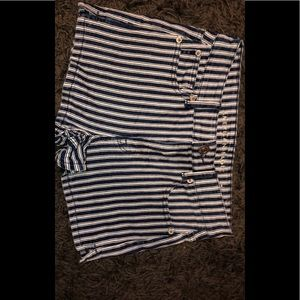 Blue and white striped shorts from American eagle